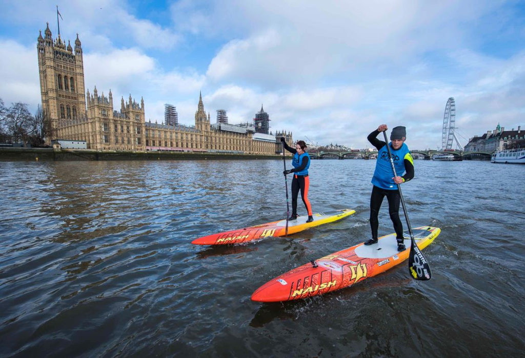 Les meilleurs coureurs SUP du monde se rendra dans les eaux de la Tamise lors du salon SUP de Londres de l'APP du 7 au 8 juillet. Photo: APP