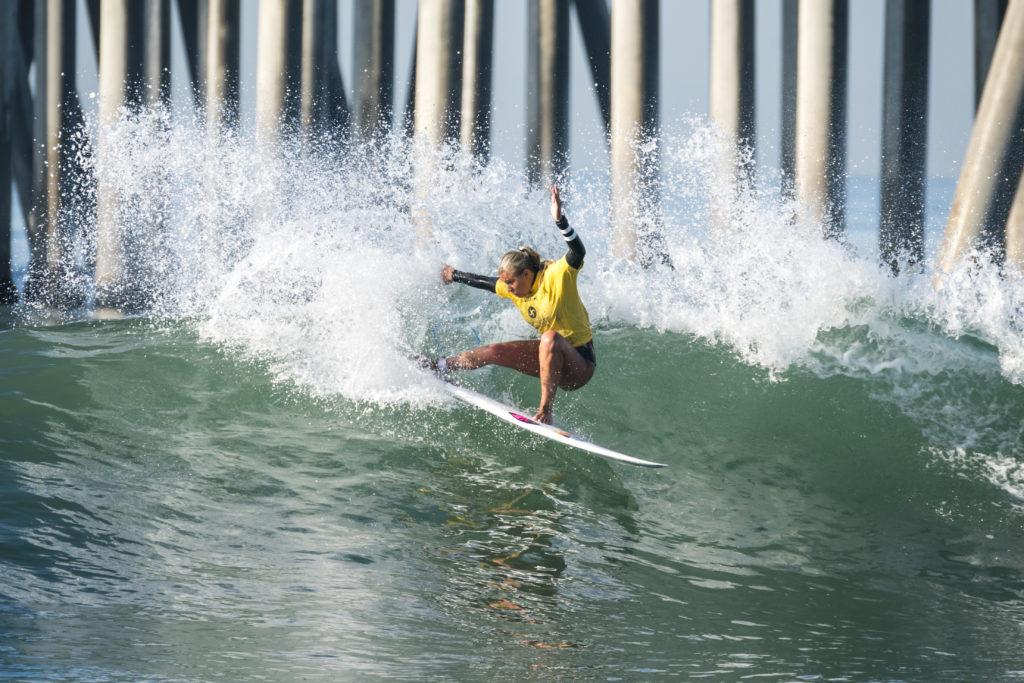 L'Allemande Rachel Presti participe aux demi-finales des moins de 18 ans féminines. Photo: ISA / Ben Reed