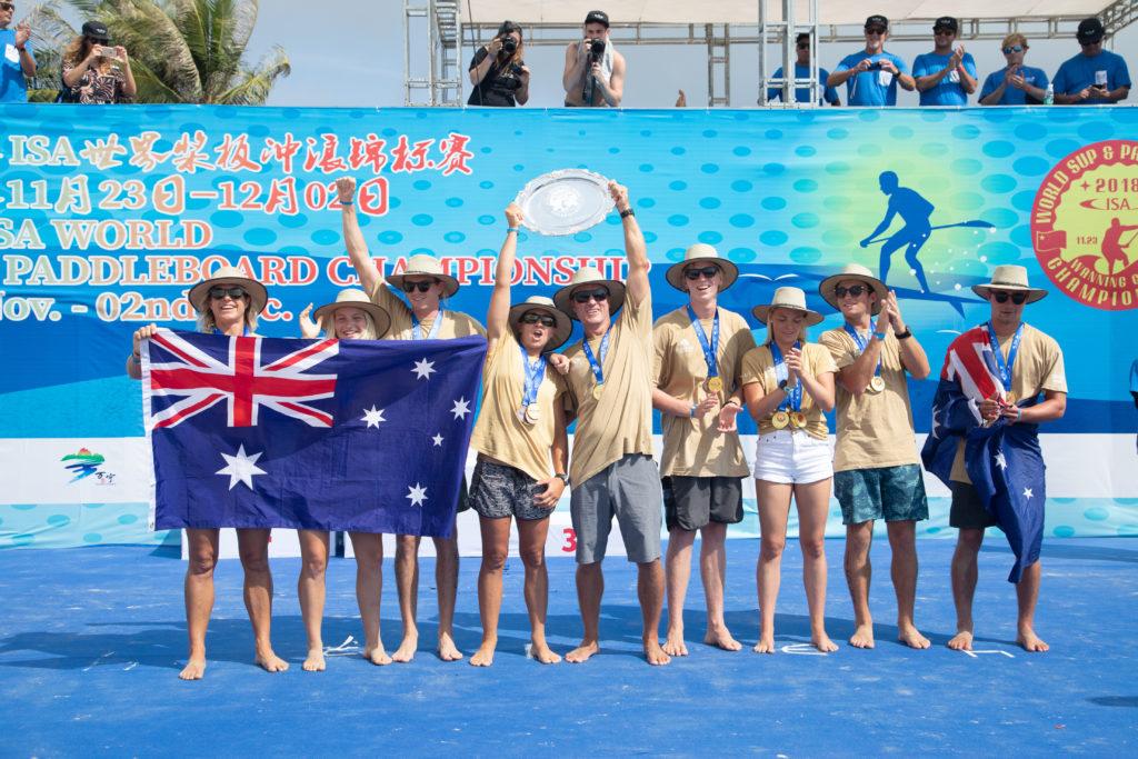 Six Golds en sept ans pour l'Australie - vraie domination du SUP et du Paddleboard. Photo: ISA / Pablo Jímenez
