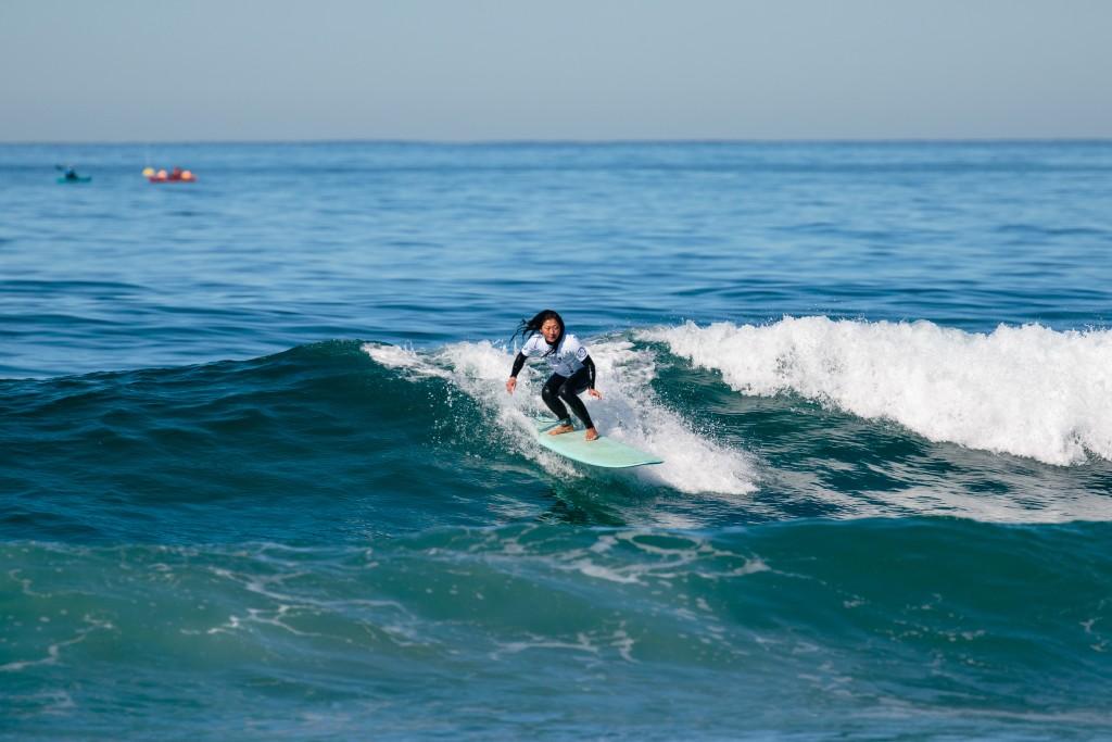 La Canadienne Ling Pan espère inciter d'autres surfeurs malvoyants à se mettre à l'eau. Photo: ISA / Chris Grant