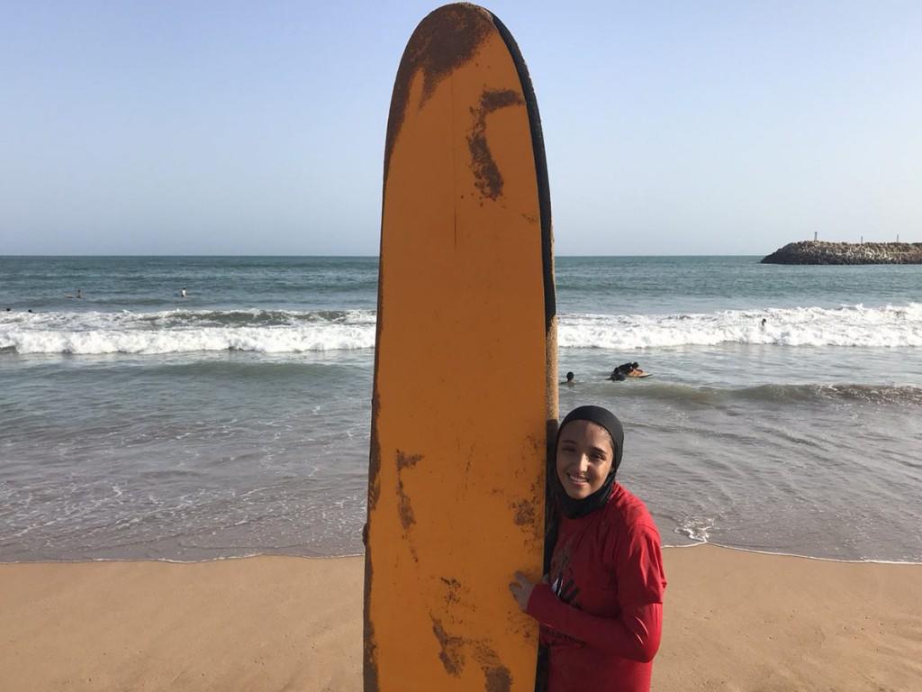 L'Iranienne Farima Nouri espère étendre le surf à d'autres filles en Iran.