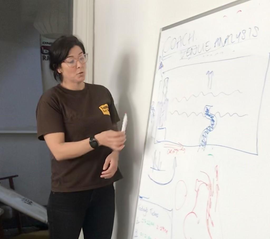 Zoee Jones explique l'analyse du lieu aux participants du cours.